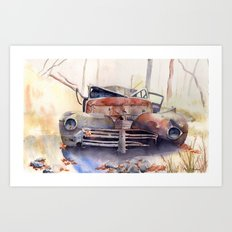 The Plymouth in the Ditch Art Print