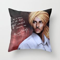 Shaheed Bhagat Singh Throw Pillow