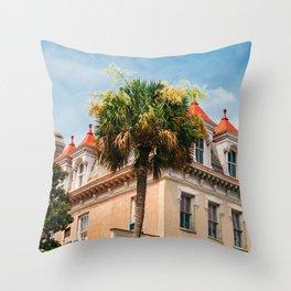 Charleston Palm Tree IX Throw Pillow