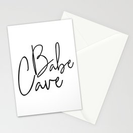 Babe Cave Stationery Cards
