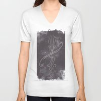 graffiti V-neck T-shirts featuring Graffiti by Isaak_Rodriguez