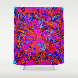 ovoid dynamics 3 Shower Curtain