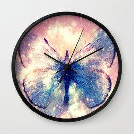Celestial Butterfly Deep Pastels Wall Clock