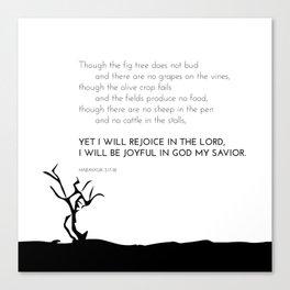 I Will Rejoice Canvas Print