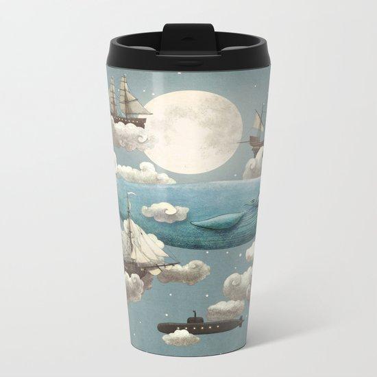 Ocean Meets Sky - colour option Metal Travel Mug