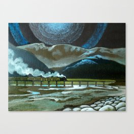 Night Passage - WW480 Steam Canvas Print