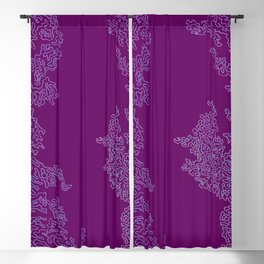 Abstract Sea Life Deep Pink Blackout Curtain