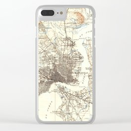 Vintage Map of Jacksonville Florida (1918) Clear iPhone Case