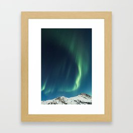 dancing lights Framed Art Print