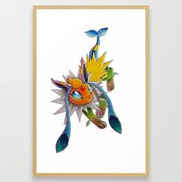 Chymereon— Eeveelutions Mashup Framed Art Print
