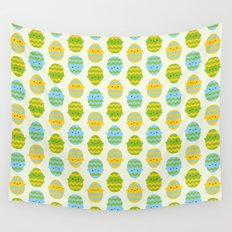 Kawaii Easter Eggs Wall Tapestry