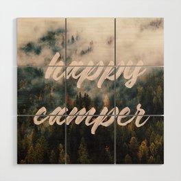 Happy Camper Wood Wall Art