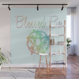 Blessed be with pentacle Wall Mural