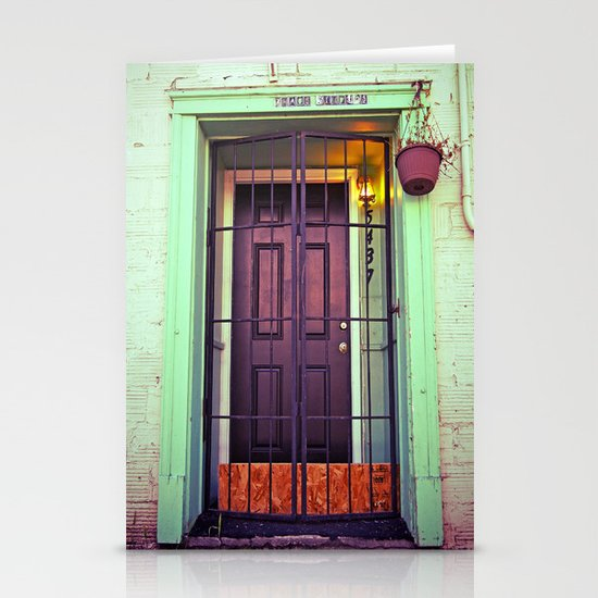 The back door Stationery Cards