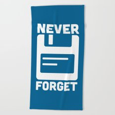 Never Forget Floppy Disk Beach Towel