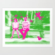 Middle Age Love Art Print