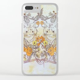 Twisted Twin Sisters Clear iPhone Case