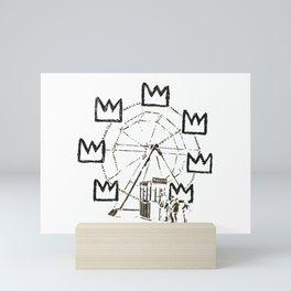 Ferris Wheel, Banksy Pays Tribute To Jean-Michel Basquiat, Artwork, Tshirts, Posters, Bags, Prints, Mini Art Print