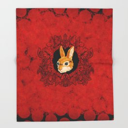 Wild Bunny Throw Blanket