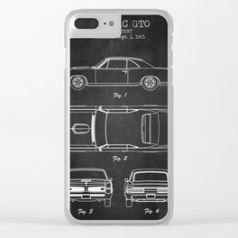 Pontiac GTO patent print. Pontiac GTO chalkboard poster Clear iPhone Case