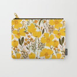 Yellow roaming wildflowers Carry-All Pouch