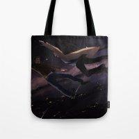 destiel Tote Bags featuring Supernatural - Destiel by arttano