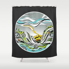 When the Earth meets the Sky Shower Curtain