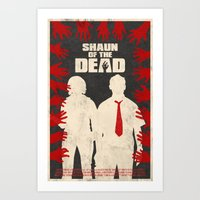 shaun of the dead Art Prints featuring Shaun Of The Dead by Bill Pyle