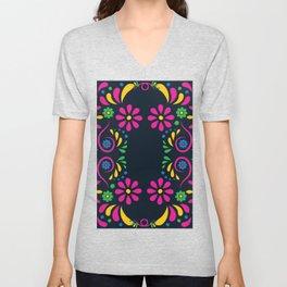 Most 2020 Trending Elegant Abstract Floral Print Design Unisex V-Neck