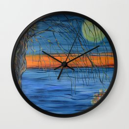 Pulling the Tides Wall Clock