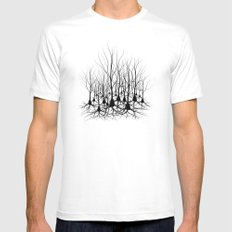Pyramidal Neuron Forest MEDIUM White Mens Fitted Tee