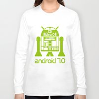 android Long Sleeve T-shirts featuring Android 7 by andyk77
