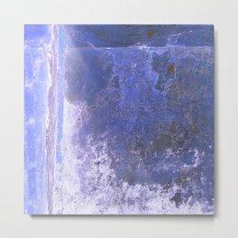 Cobalt Blue White Ombre Metal Print