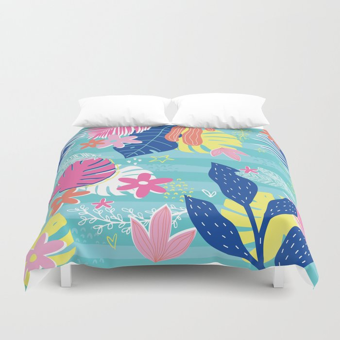 Tropical Vibes Duvet Cover