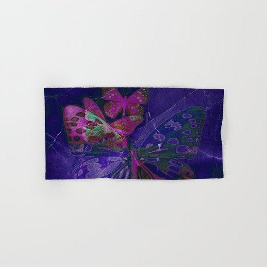Marble Butterflies Hand & Bath Towel