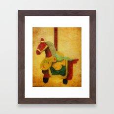 The Woo Woo Carousel Horse Framed Art Print