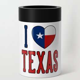 I Love Texas Can Cooler