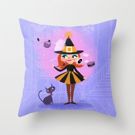 Lilly Witch Throw Pillow