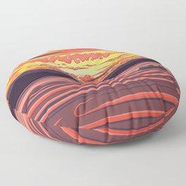 Seattle Sunset on Fire by Linda Sholberg Floor Pillow