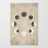 moon phase Canvas Prints featuring Moon Phase by cegphotographics