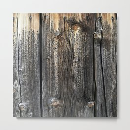 Old Weathered Wood Texture Metal Print