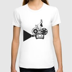 Cinema Paradiso White Womens Fitted Tee SMALL