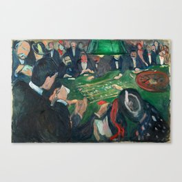 At the Roulette Table in Monte Carlo by Edvard Munch Canvas Print
