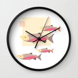 Salmon in Autumn Wall Clock