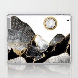 Minimal Black and Gold Mountains Laptop & iPad Skin
