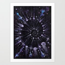Let There Be Jellyfish Art Print