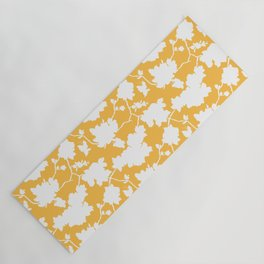 Chinoiserie Silhouette Golden Yellow Yoga Mat