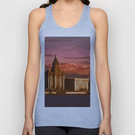 Liverpool Waterfront at Sunset (Digital Art) Unisex Tank Top