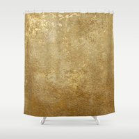 rush Shower Curtains featuring Gold Rush by 83 Oranges™