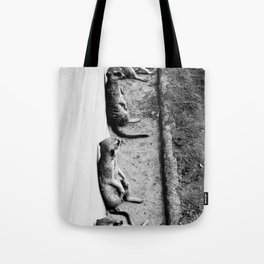 Row of meerkats Tote Bag